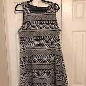 Black & White Patterned Dress Apt 9